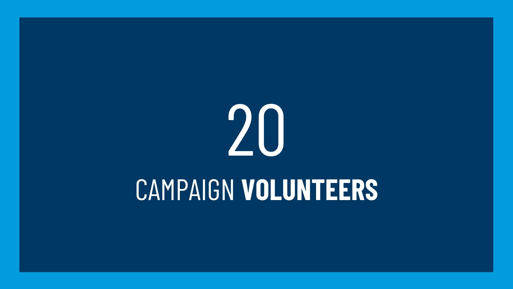 20 campaign volunteers